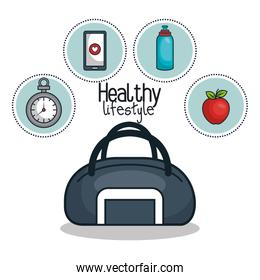 healthy lifestyle flat icons