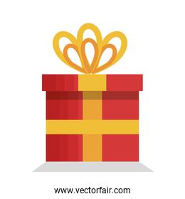 merry christmas gift isolated icon