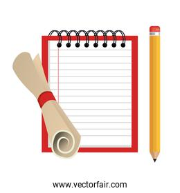 notebook school isolated icon