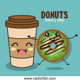delicious donut comic character