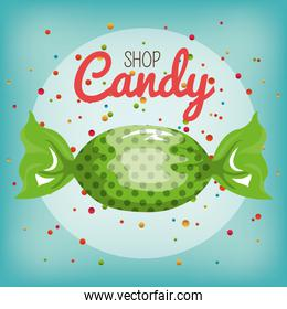 candy sweet isolated icon