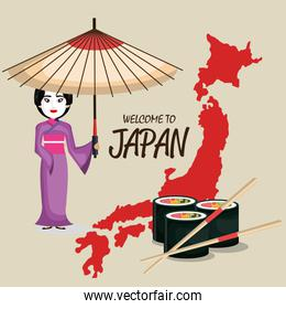japan culture poster icon