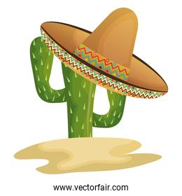 cactus character with mexican hat