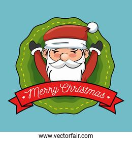 happy merry christmas santa claus character