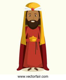 happy merry christmas manger character