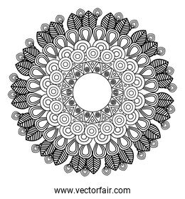 mandala art decorative icon