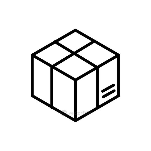 wrapped cardboard box delivery icon thick line