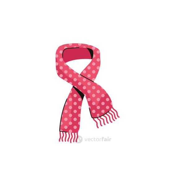 scarf cold fashion accessory isolated icon