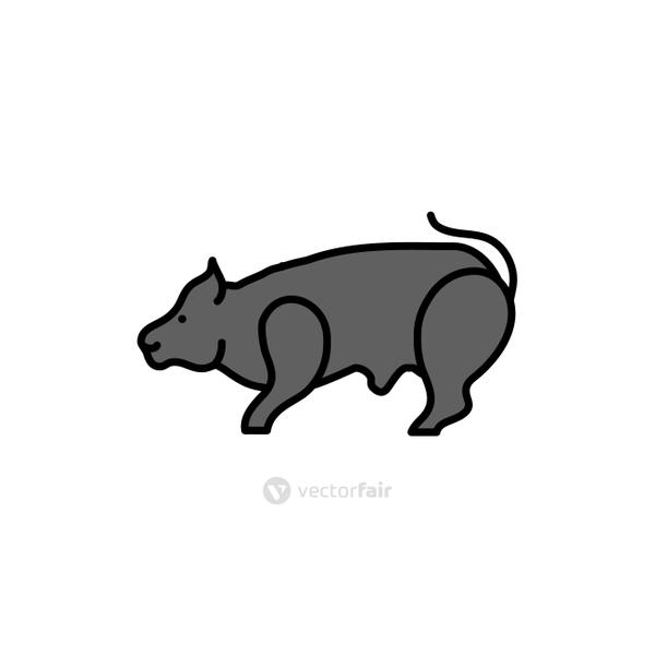 rodent rat animal isolated icon