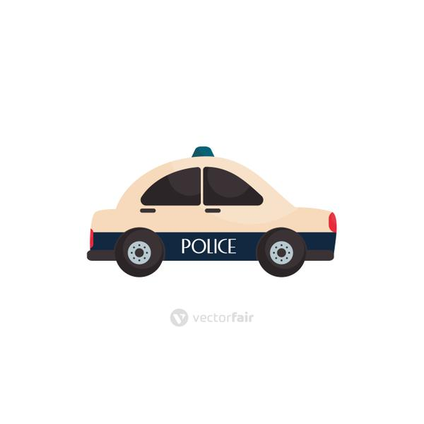 Isolated policecar vehicle flat style icon vector design