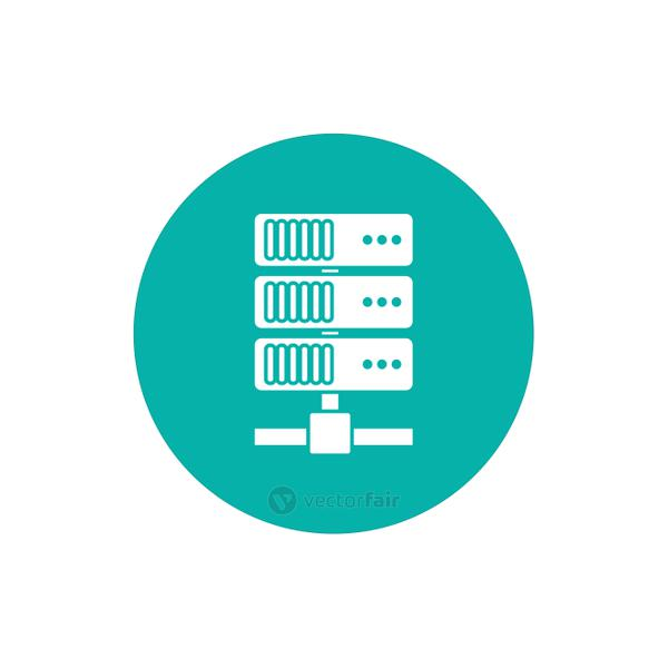 Isolated web hosting block style icon vector design