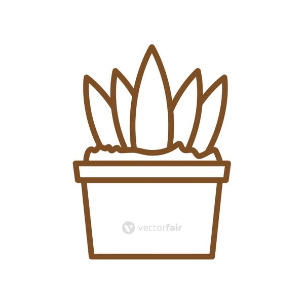 Isolated plant inside pot line style icon vector design