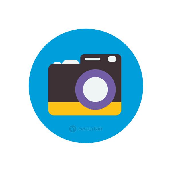 Isolated camera device flat block style icon vector design