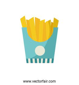 Isolated french fries flat style icon vector design
