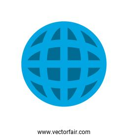 Isolated global sphere flat style icon vector design