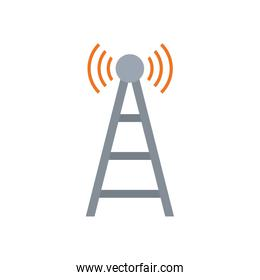 Isolated antenna flat style icon vector design
