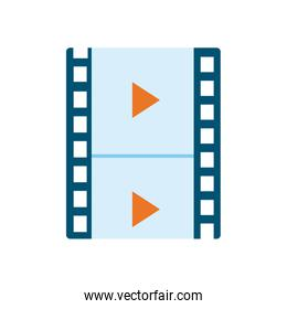 Isolated movie strip flat style icon vector design