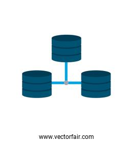 Isolated web hosting flat style icon vector design