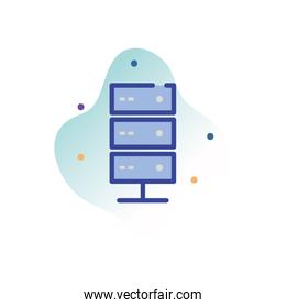 Isolated web hosting line fill block style icon vector design
