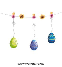 cute eggs easter decorated hanging