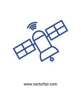 Isolated antenna line style icon vector design