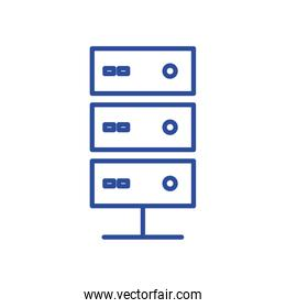 Isolated web hosting line style icon vector design