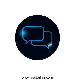 Isolated communication bubbles gradient style icon vector design