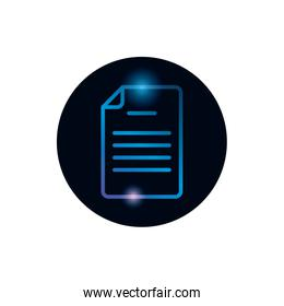 Isolated data document gradient style icon vector design