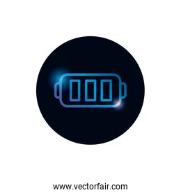 Isolated battery gradient style icon vector design