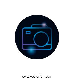Isolated camera device gradient style icon vector design