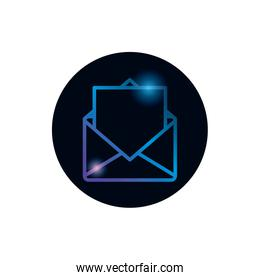 Isolated envelope message gradient style icon vector design