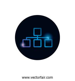 Isolated workflow map gradient style icon vector design