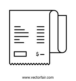receipt paper voucher isolated icon