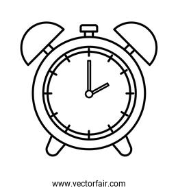 alarm clock time isolated icon