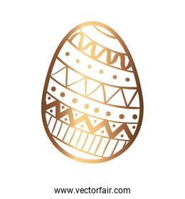 golden egg easter decorated isolated icon