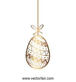 golden egg easter decorated hanging