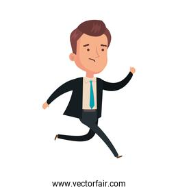 businessman running avatar character icon