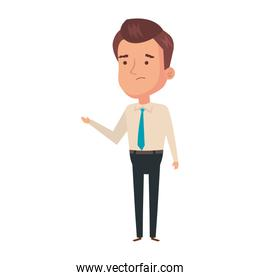 businessman elegant avatar character icon