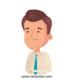 businessman thinking avatar character icon