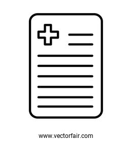 document with cross , line style icon