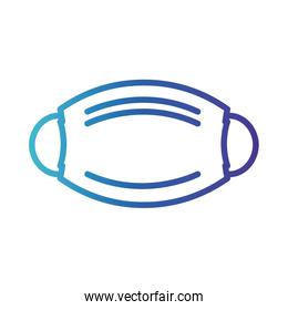 face mask accessory , gradient line style icon