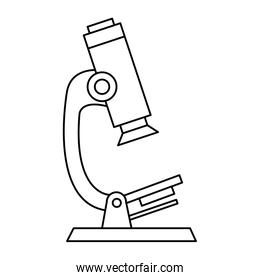 microscope device of laboratory isolated icon