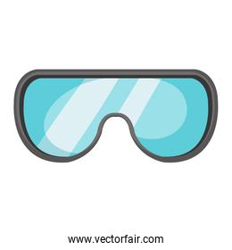 safety goggles equipment isolated icon