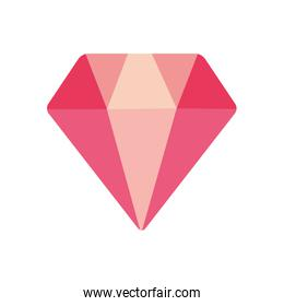Isolated diamond flat style icon vector design