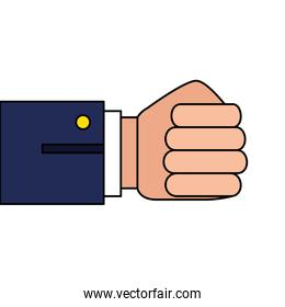 hand fist human isolated icon