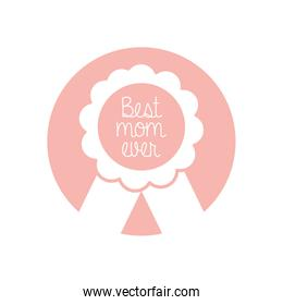 best mom ever seal stamp silhouette style icon vector design