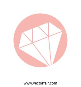 Isolated diamond silhouette style icon vector design