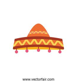 Mexican hat flat style icon vector design