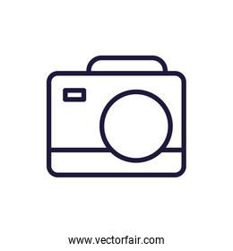 Isolated camera device line style icon vector design