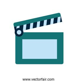 Isolated movie clapboard flat style icon vector design